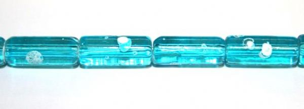 26pieces x 16mm*7mm Light blue colour cylinder shape bubble gum glass beads / speckled glass beads -- 3005160